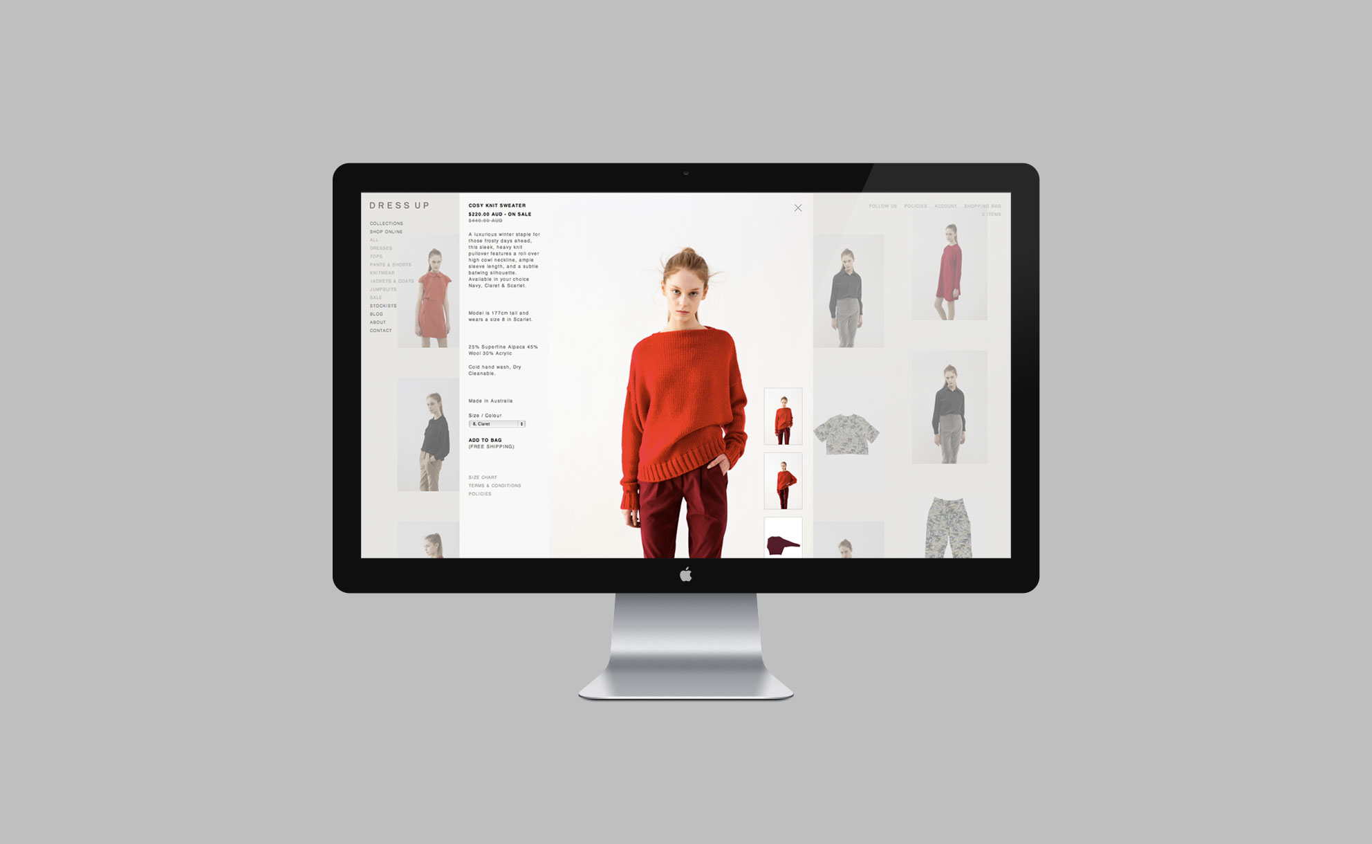 Dress Up - Website 4
