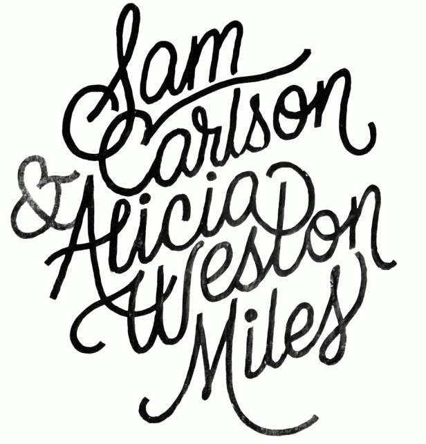 Wedding lettering by James T Edmondson