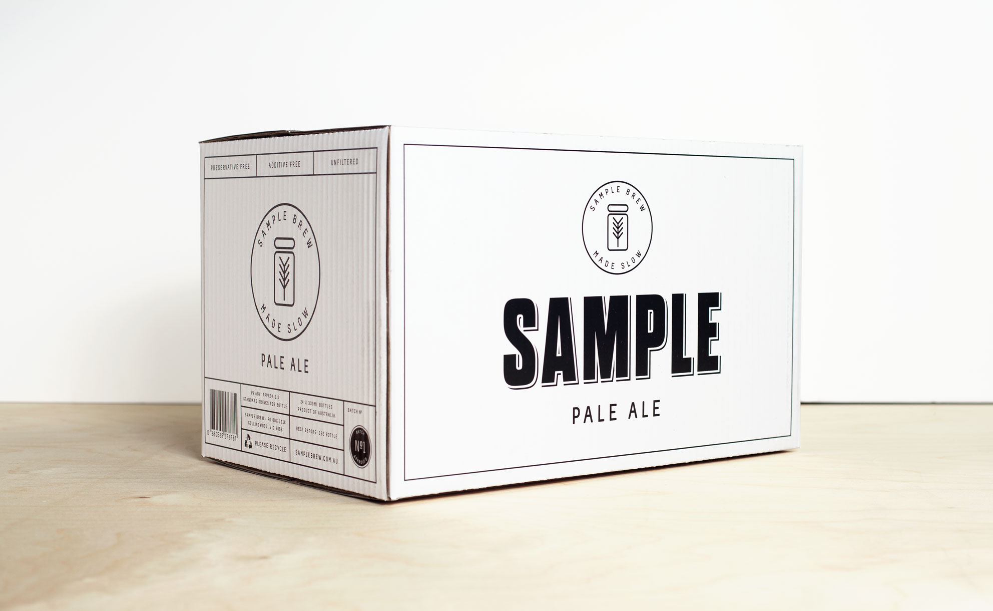 Sample Beer Batch #1 Carton