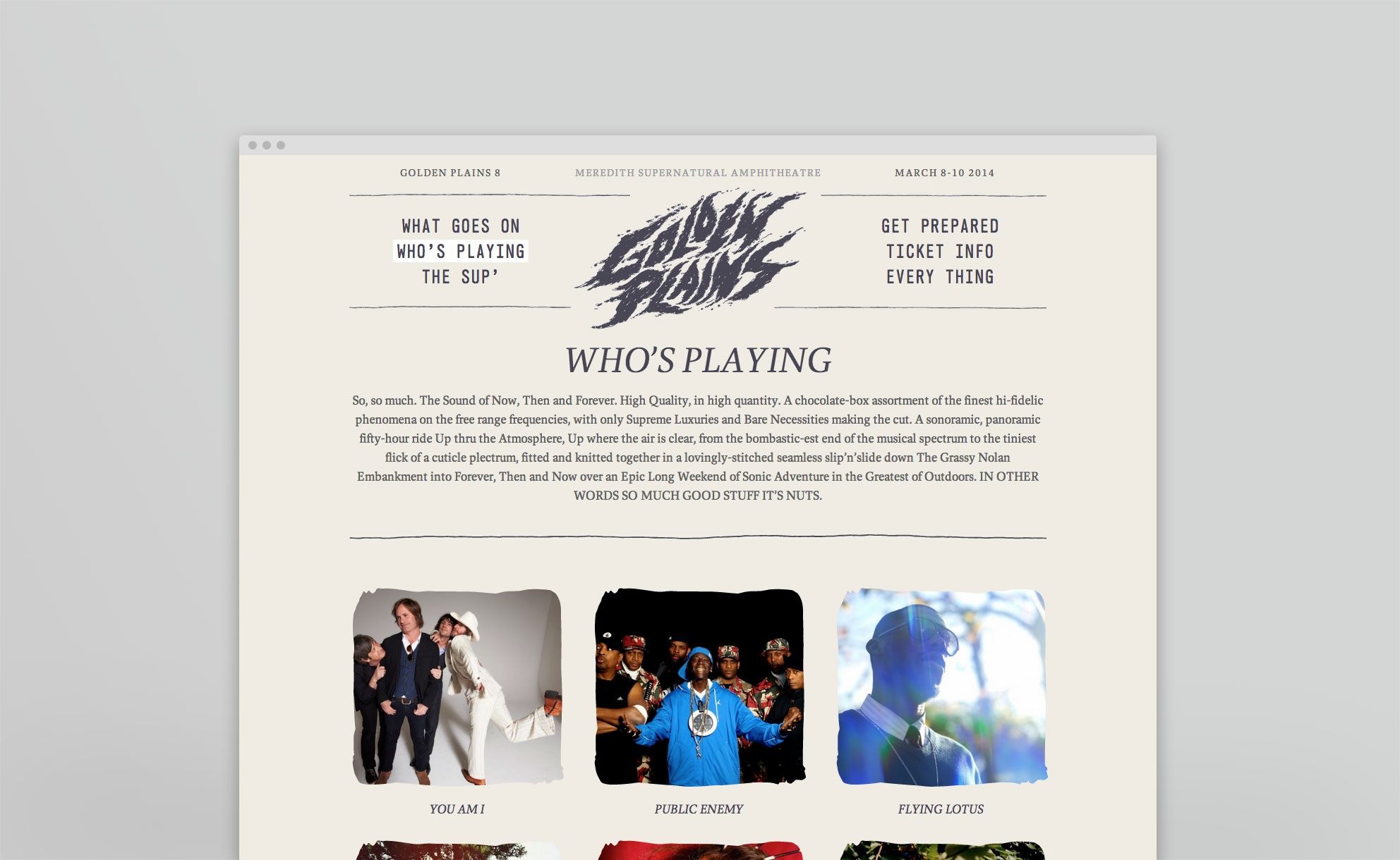 Golden Plains Music Festival Website